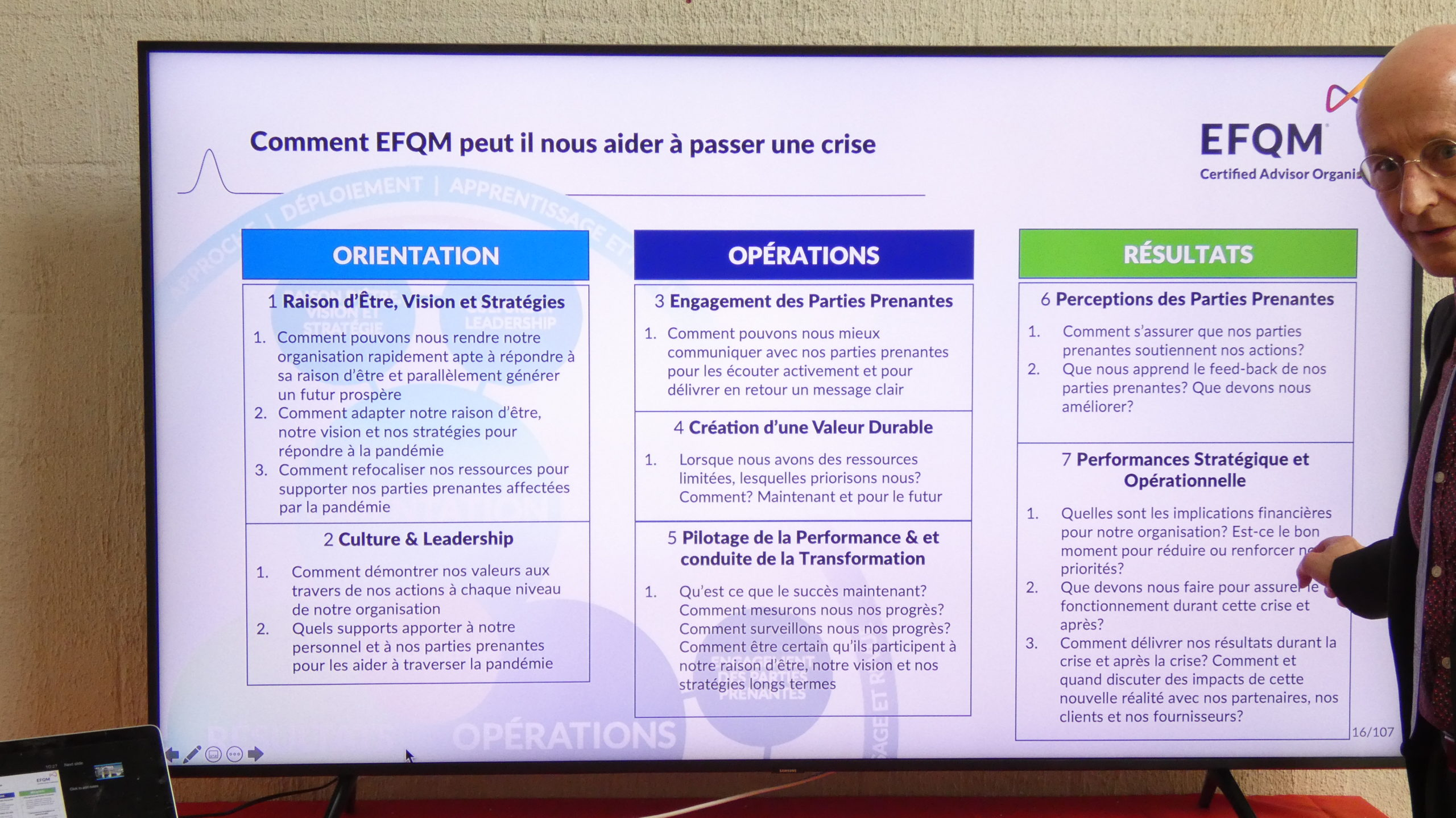 Management de crise => EFQM en Suisse Romande