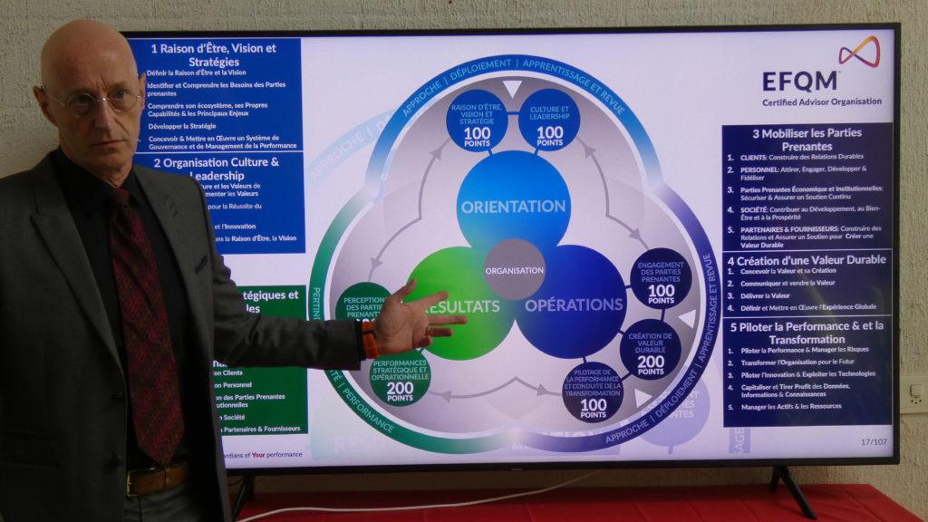 Le modèle EFQM avec ses critères et sous-critères