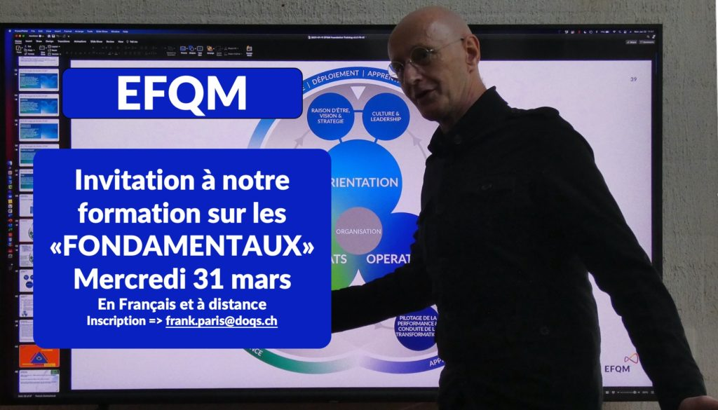 """Formation EFQM """"FONDAMENTAUX"""""""